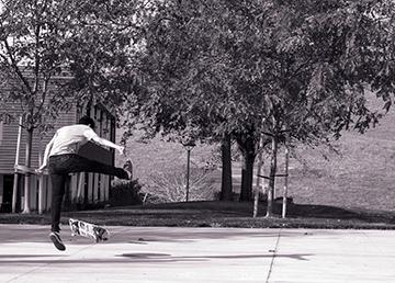 """Skateboarder"" © 2017 Ian D. Jones,All Rights Reserved"